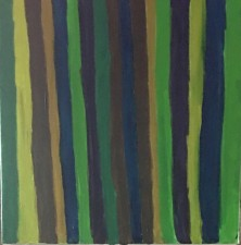 "Abstract 8,  acrylic, 16x16"" (2016)"
