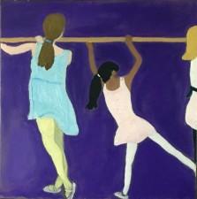 """Ballet Class 20x20""""  oil  (2016)"""