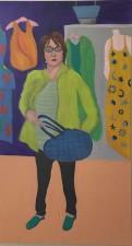 "Judie Shopping, acrylic, 54x30"""