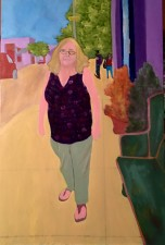 "Kathy on Kimball  36x24"" oil (2017)"