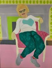 """Lillian, acrylic, 28x22"""" (2017"""
