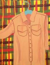 "Wardrobe 2 (Khaki) 22 x 28"" (2014)"