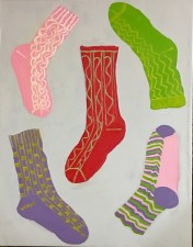 "Wardrobe 7 (socks) 28x22"" (2016)"