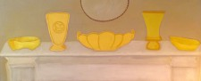 "Yellow Pottery  24 x 48""  (2014)"