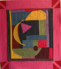 hand dyed fabric, sewn and quilted (2011)