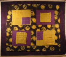 hand dyed fabric sewn and quilted (2011)